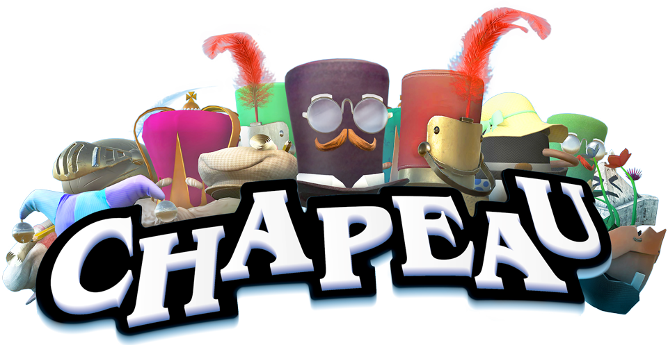 chapeau logo with variety of hats